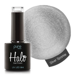 Halo Gel Polish Silver Sparkle 8ml