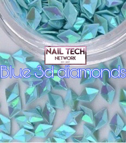 Blue diamonds 3D glitter
