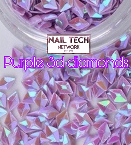 Purple diamonds 3D glitter