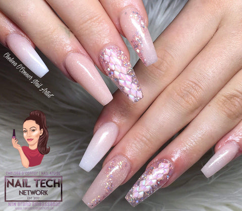 Pink diamonds 3D glitter