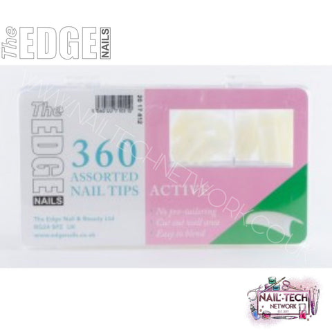The EDGE Active Nail Tips (Assorted Sizes) 360 Pack