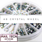 AB mixed size crystal wheel