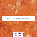 Orange matt multicut glitter
