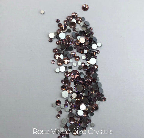 Rose Gold Mixed Size Crystals