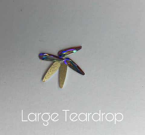 AB Glass teardrops Large