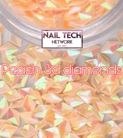 Peach diamonds 3D glitter