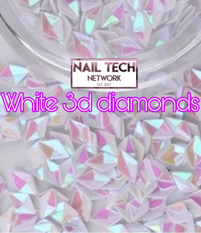 White diamonds 3D glitter