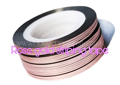 Rose gold striping tape