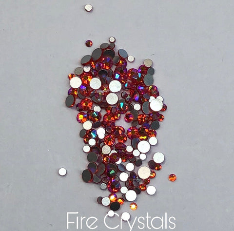 Fire Crystals Mixed Sizes