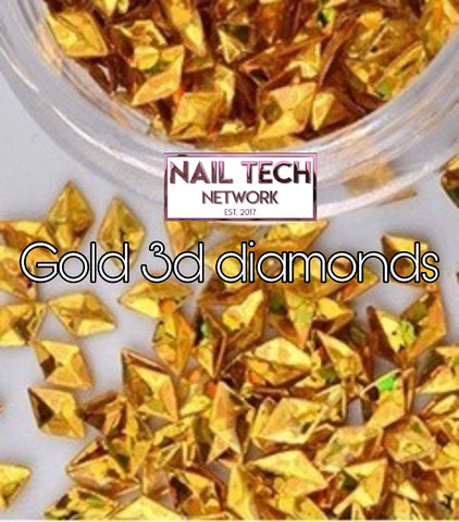 Gold diamonds 3D glitter