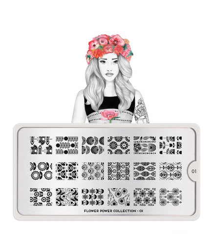 MoYou Stamping Plate Flower Power 01