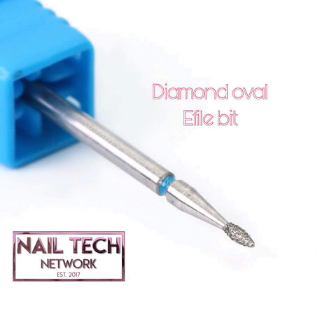 Diamond oval efile bit
