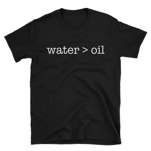 """water>oil"" Black"