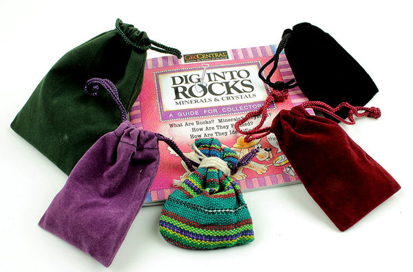 Rock & Mineral Stocking Stuffer Variety Pack, 6 Surprise Gifts, Stone Turtle Necklace, Amethyst, Tumbled Stones, Worry Dolls, Quartz Crystal Point, & Rock Book, Fun Prizes & Party Favors