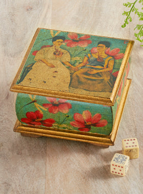 Las Dos Fridas Decoupage Box
