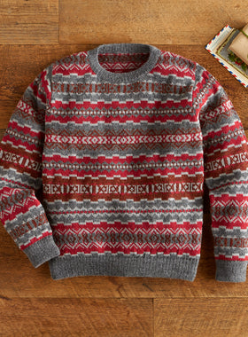 Cool Contrast Alpaca Sweater