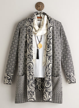 Collage Contrast Cardigan