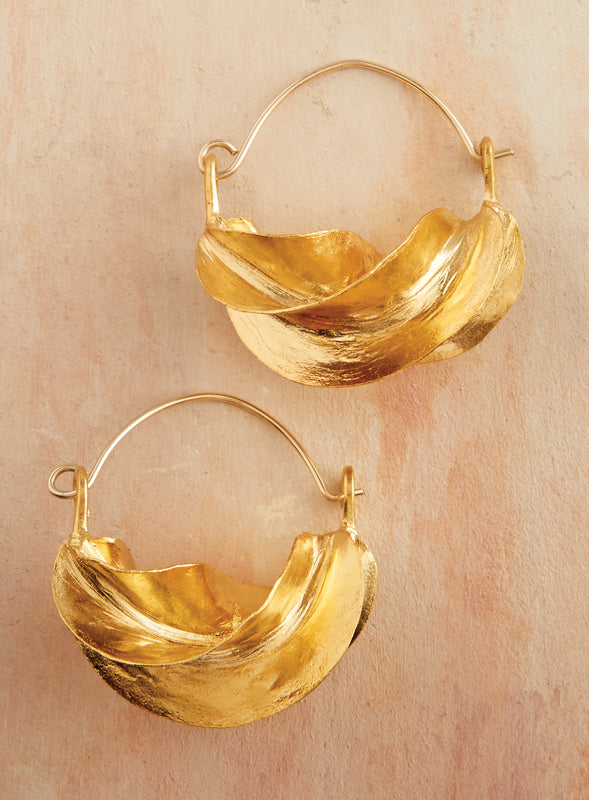 Fulani Twist Earrings - Gold