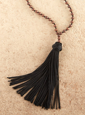 Moroccan Silk Tassel Necklace