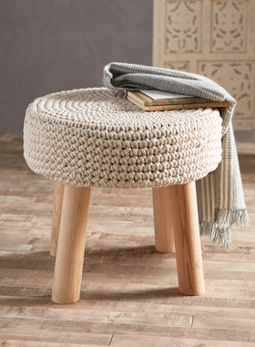 Chunky Knitted Stool