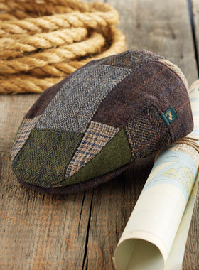 Woodlands Irish Tweed Patchwork Cap