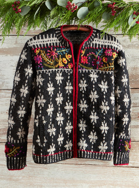 Snowflower Sweater Jacket