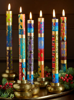 Golden Glow Hand-painted Candles