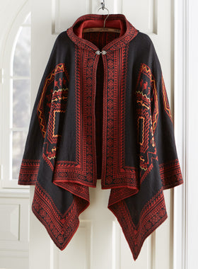Reversible Hooded Peruvian Poncho