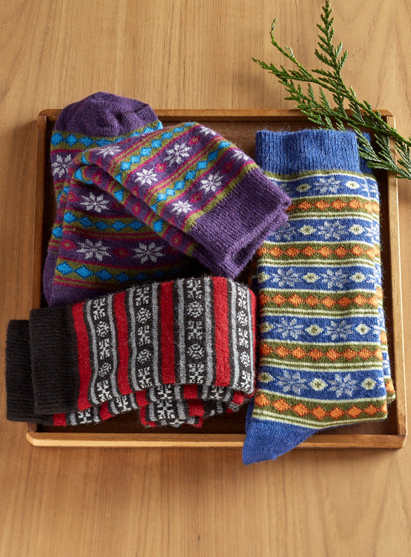 Cozy Alpaca Socks