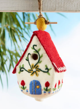 Felted Alpine Birdhouse