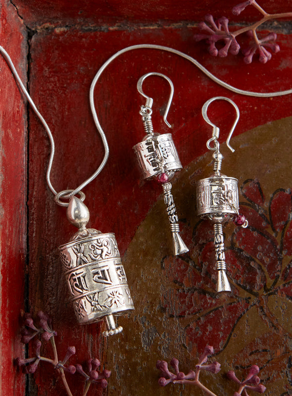 Tibetan Prayer Wheel Jewelry