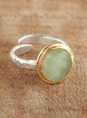 Gold-wrapped Roman Glass Ring