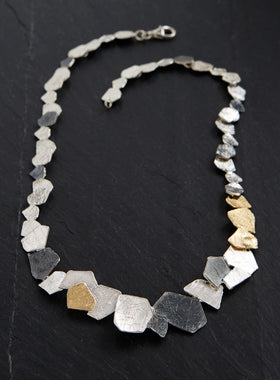 Tri-tone Flagstone Necklace
