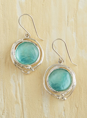 Roman Glass Tendril Earrings