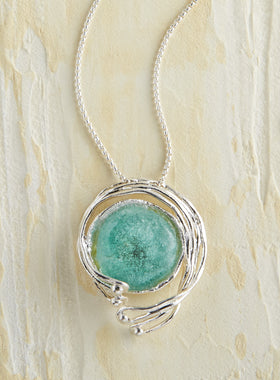 Roman Glass Tendril Necklace