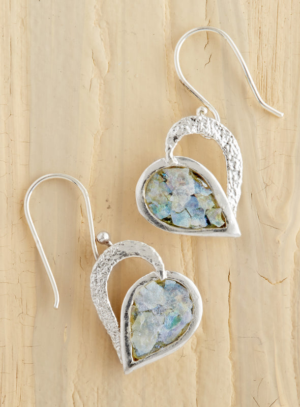 Hearts on Fire Roman Glass Earrings