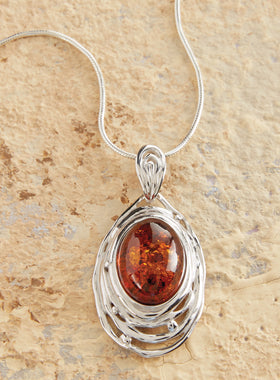Amber Ripple Necklace