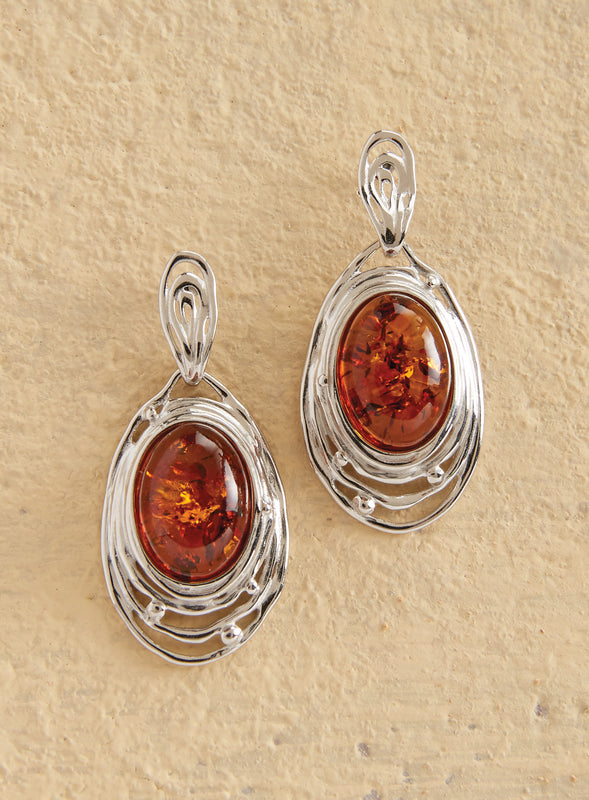 Amber Ripple Earrings