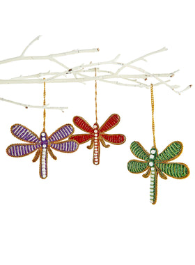 Auspicious Dragonfly Ornaments - Set of 3
