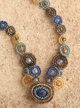 Atitlán Beaded Medallion Necklace