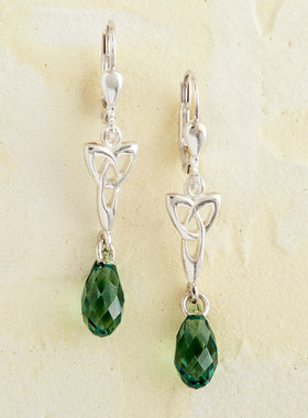 Love Knot Crystal Earrings