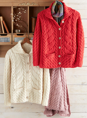 Irish Rose Cable Cardigan