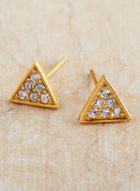 Illuminated Triangle Earrings