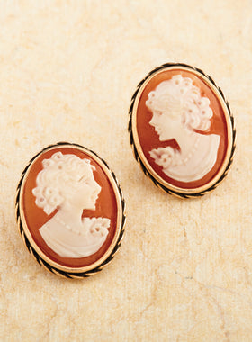 Torre del Greco Cameo Earrings