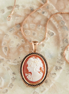 Torre del Greco Cameo Necklace