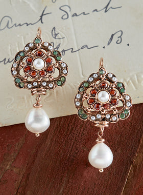 Rose Gold Chiave Earrings