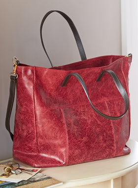 Tuscan Brushed Leather Tote