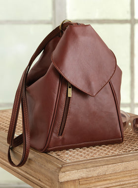Ponte Vecchio Convertible Leather Backpack