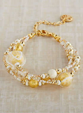 Venetian Sunlight Glass Bracelet