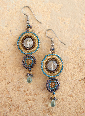 Atitlán Beaded Medallion Earrings